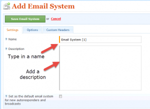 add an email system