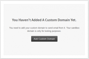 add custom domain screen