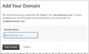 add custom sub domain