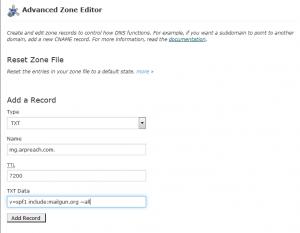 create spf record for mailgun