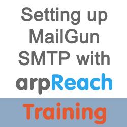 training setup mailgun with arpreach