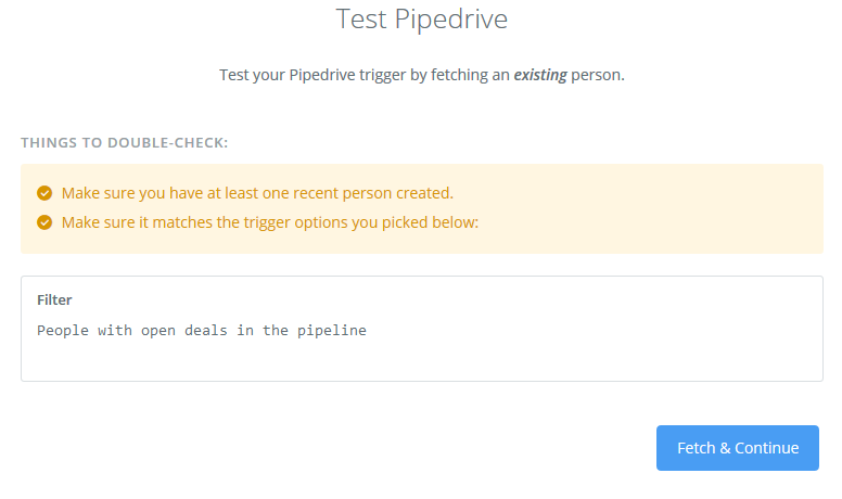 test pipedrive works